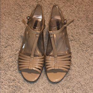 Alex Marie patent nude heels
